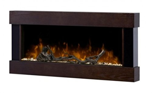 Dimplex DWF120 Contemporary Wall-Mountable Electric Fireplace, Wood and Black Metal picture