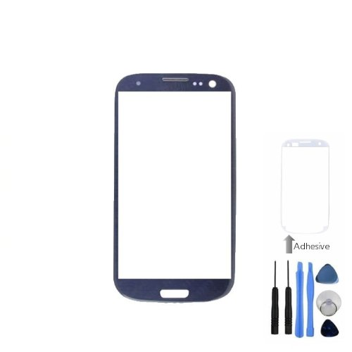 Bislinks® Blue Front Screen Lens Glass For Samsung Galaxy S3 Mini I8190 + Tools + Adhesive