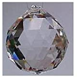 Lot of 12 Pcs 20mm Clear Asfour Crystal Hanging Faceted Ball Prism