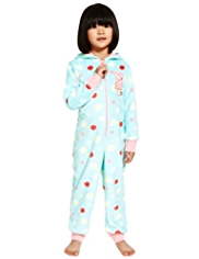 Peppa Pig Hooded Spotted Fleece Onesie