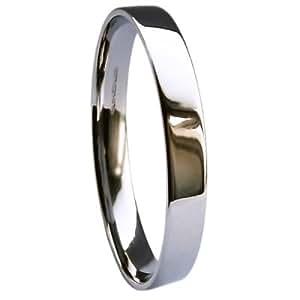 QUALITY UK Palladium 500 Heavy 2.5mm Flat Court / Easy Fit Wedding Ring 2.3g Size K
