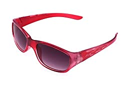 Kings n Queens Rectangular Sunglasses (Red) (B5504)