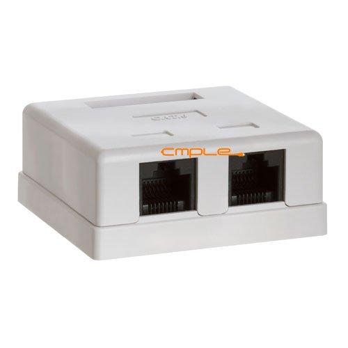 Cmple - Surface Mount Box Cat6 Double WHITE