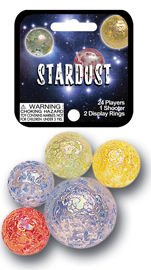 Mega Marbles - STARDUST MARBLES NET (1 Shooter Marble & 24 Player Marbles) - 1