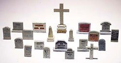 Woodland Scenics HO Scale Scenic Details 20 Tombstones - 1