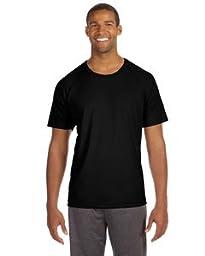 ALO MENS S/S RGLN PERFRMCE TEE (BLACK) (XL)