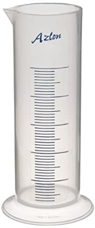 Azlon Polypropylene Short Form Graduated Cylinder with Printed Graduations