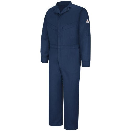 Bulwark® Cld4 Men'S Deluxe Coverall Excel Fr® Comfortouch-48-Tall-Navy front-597381