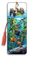 Artgame - Sea Otters - 3D Bookmark
