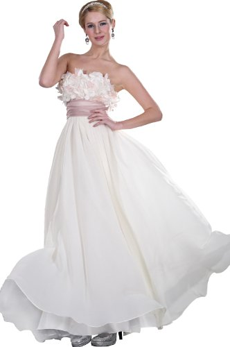 eDressit Cream Evening Dress Party Ball Gown (00107613) SZ 10