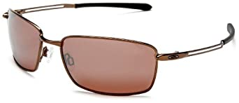 Oakley Men's Nanowire 4.0 Iridium Polarized Sunglasses,Burnt Copper Frame/VR28 Black Lens,one size