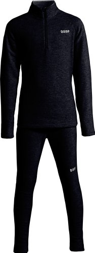 Orage Boy's Mic Mac Fleece Set, Black, Small