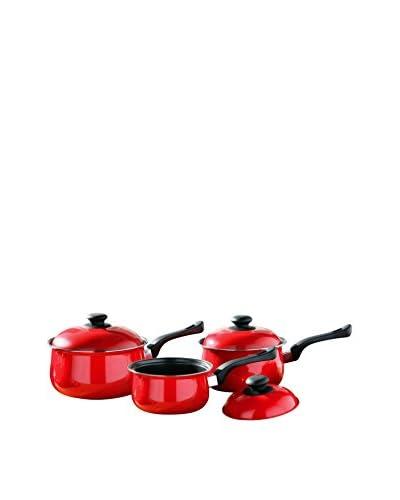 Premier Housewares Set Cazuela con Tapa 6 Uds. Rojo