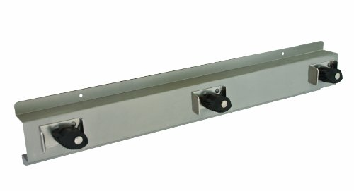 Bradley 9953-000000 Stainless Steel 3 Hooks Mop and Broom Holder, 24