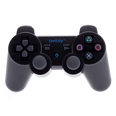 Get Avitoy Rechargeable Bluetooth Wireless Controller For Iphone/Ipad/Ipod Touch (Assorted Colors) , Black