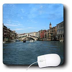 Vacation Spots - The Rialto Bridge Venezia Italy - Mouse Pads