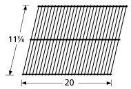 "Porcelain Cooking Grid, 11 3/8"" X 20""   54101"
