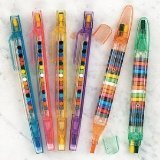 Fun-Express-Transparent-Glitter-Stacking-Point-Crayons-Pack-of-12-Stationery-and-Crayons-Toy