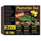 Exo Terra Plantation Soil Tropical Terrarium Substrate 8-quart 3-count