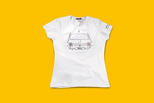 Original Fiat T-Shirt da donna con strass Fiat 500bianco-taglia M