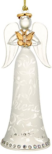 Lenox Joyous Tidings Friend Angel with Butterfly (Lenox Crystal Ornaments compare prices)