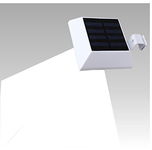 T-SUN Solar Gutter Lights,6 LED Solar Powered Waterproof Security Lamp for Outdoor Garden, Fence, Dog House, Tree, Outside Garage Door, Wall, Stairs Anywhere Safety Lite with Bracket, 5000K White (Heat Lamp Fixture Dog House compare prices)