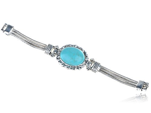 Tribal Ethnic Inspired Faux Turquoise Statement