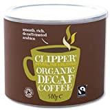 Brand New. Clipper Fairtrade Instant Decaffeinated Coffee Organic Granules Freeze Dried Tin 500g Ref A06746