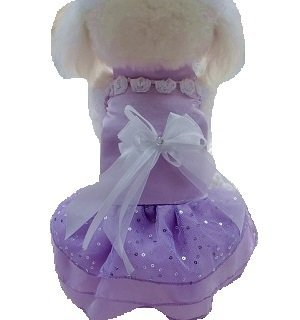 You want to dress your dog! For cats and dogs wedding dress (purple, L)