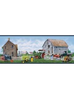 Farm Tractors, Truck, Farming Wallpaper Wall Border