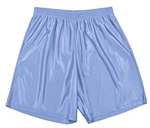 Buy A4 Adult 9 Inseam Dazzle Basketball Shorts LIGHT BLUE AM by A4