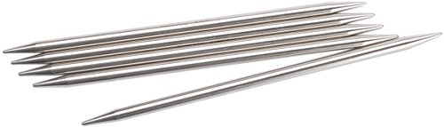 ChiaoGoo Red Double Point 6-inch (15cm) Stainless Steel Knitting Needle; Size US 1 (2.25mm) 6006-1 (Size 1 Knitting Needles compare prices)