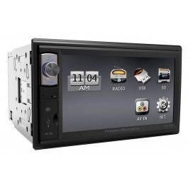 Power Acoustik Pdr-654 Double Din Digital Media Receiver With 6.5-Inch Lcd Touch Screen