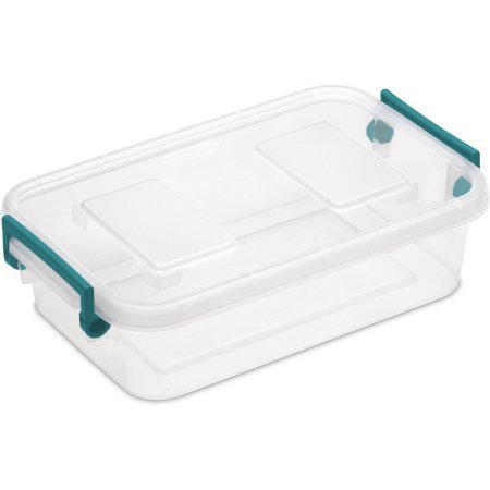 Case of 6 Modular Latch Box 2.7 Quart In Teal Sachet (Sterilite Modular System compare prices)