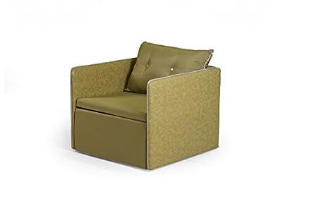 Cod.00773913 - Poltrona Letto Eolo in tessuto verde