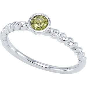 Genuine IceCarats Designer Jewelry Gift Sterling Silver 04.00 Mm Stackable Ring. 7 Perido 04.00 Mm Stackable Ring In Sterling Silver Size 7