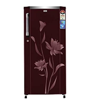 Haier HRD-2015PRF Direct-cool Single-door Refrigerator (181 Ltrs, 5 Star Rating, Red Flower)