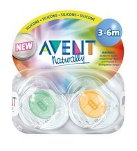 Translucent Infant Pacifiers 3-6m (colors may vary)