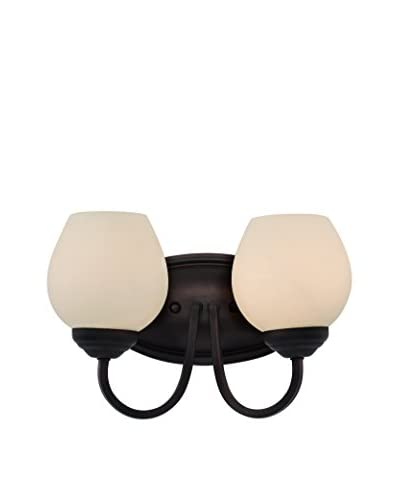 Bel Air Lighting Clarissa 2-Light Wall Sconce, Rubbed Oil Bronze