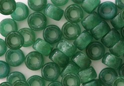 Green Opal Czech Glass Crow Pony Beads