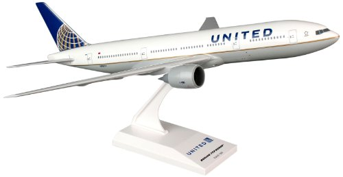 Daron Skymarks United 777-200 Post Co Merger Livery Model Building Kit, 1/200-Scale (United Airlines Model compare prices)