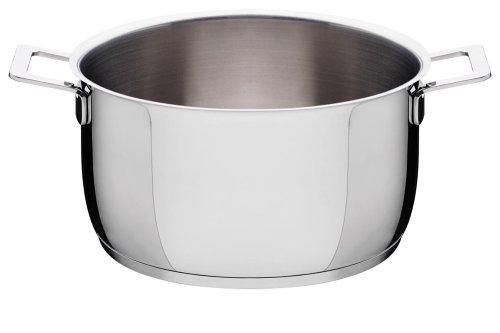 A di Alessi Pots & Pans Casserole, Stainless Steel, 24 cm (AJM101/24)