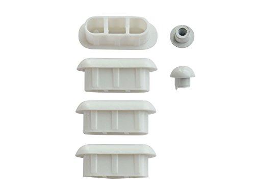 WC-Sitz-Puffer Nr. 19 | Auflagestopfen für Toilettensitz | Abstandhalter für WC-Brille | Dämpfer | Weiß | Kunststoff