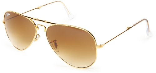 Ray-Ban RB3479 Icons Folding Aviator Sunglasses/Eyewear - Arista/Crystal Brown Gradient / 58mm