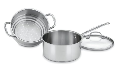 Cuisinart 77-35CG Chef's Classic Stainless 3-Piece 3-Quart Steamer Set (Steamer Cuisinart compare prices)