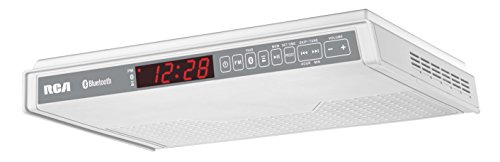 RCA SPS3688B Under Cabinet Wireless Speaker with FM Radio, White (Stereo Cabinet Low Profile compare prices)