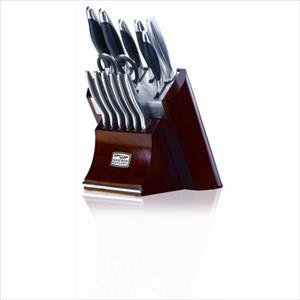 Chicago Cutlery Landmark 14-Piece Block Knife Set with Mini Tool Box (fs)
