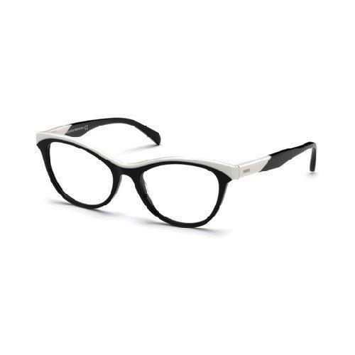 emilio-pucci-kunststoff-damen-brille-brillenfassung-brillengestell-ep5036-schwarz-weiss