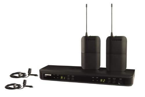 Shure Blx188/Cvl Dual Channel Lavalier Wireless System With 2 Cvl Lavalier Microphones, H8