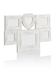 6 Aperture Heart Photo Frame